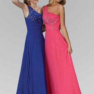 Straight Neck Sequined Prom Dress GSGL2021